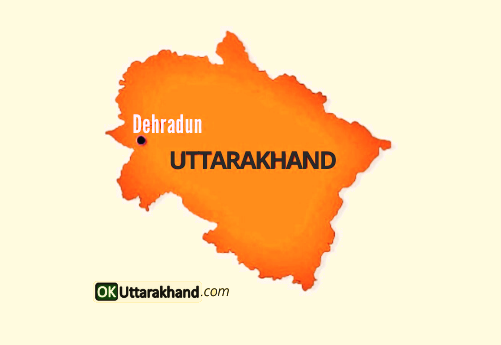 map of Uttarakhand state
